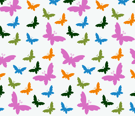 White Butterfly Dance fabric by jennetheridge on Spoonflower - custom fabric