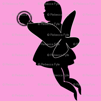 Silhouette_fairy_with_globe_light_on_pink