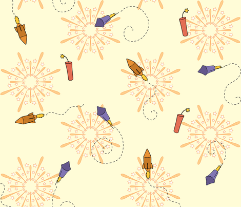 Rockets in my Pockets fabric by rhysotronic on Spoonflower - custom fabric