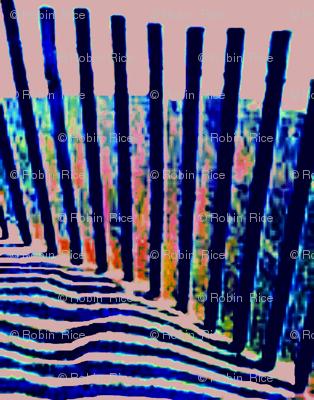 Sand Dune Fence as the Sun Sinks