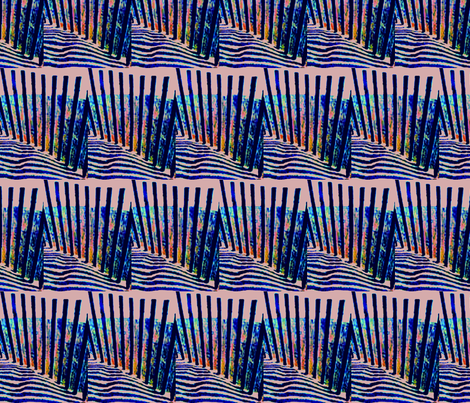 Sand Dune Fence as the Sun Sinks fabric by robin_rice on Spoonflower - custom fabric