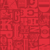 Woodtype Alphabet - Mono Red