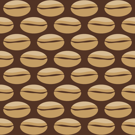 Big Bean - coffee fabric by inscribed_here on Spoonflower - custom fabric
