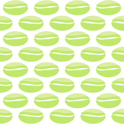 Big Bean - green fabric by inscribed_here on Spoonflower - custom fabric