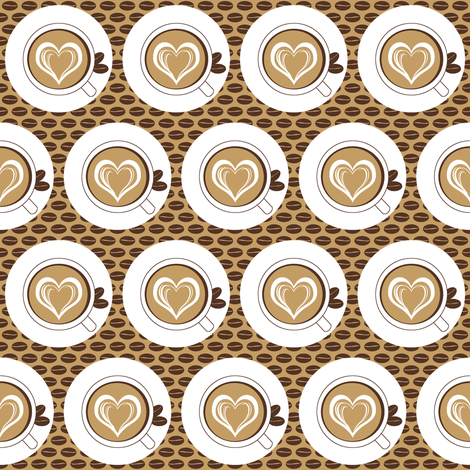 Lovin Milky Coffee fabric by inscribed_here on Spoonflower - custom fabric