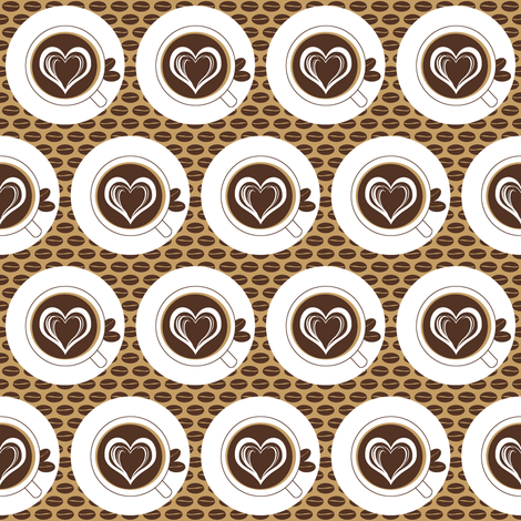 Lovin Dark Coffee fabric by inscribed_here on Spoonflower - custom fabric