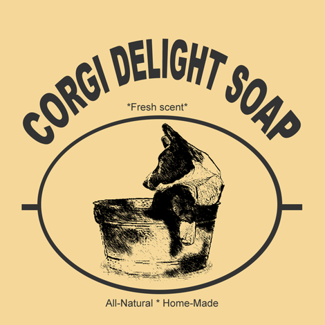 """Corgi Delight Soap"" Gift sack"