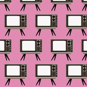 Retro TV- Pink Background