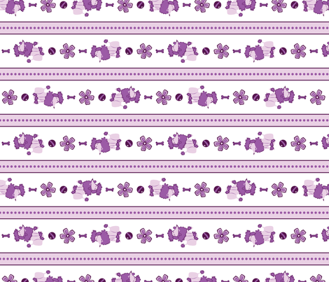 Purple Poodle Stripes fabric by robyriker on Spoonflower - custom fabric