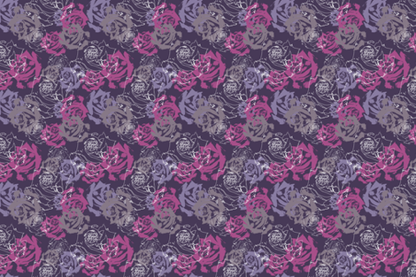 Purple_Roses fabric by nikkibutlerdesign on Spoonflower - custom fabric