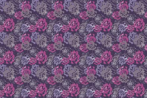 Purple_Roses fabric by nikkibutlerdesign on Spoonflower - custom fabric