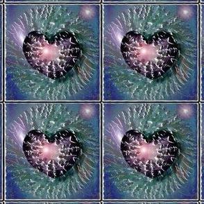Water heart tiles