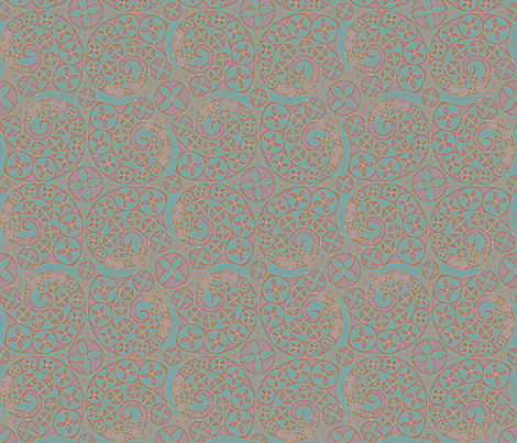 © 2011 Bluets Tribal fabric by glimmericks on Spoonflower - custom fabric