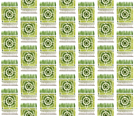 Knot Garden No. 1 - Topiary Collection fabric by gollybard on Spoonflower - custom fabric