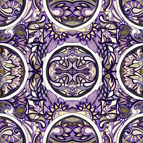 Gaze into my crystal ball (color 2) fabric by edsel2084 on Spoonflower - custom fabric