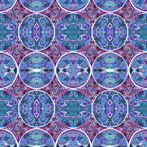Gaze Into My Crystal Ball (color) fabric by edsel2084 on Spoonflower - custom fabric