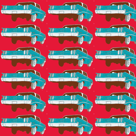 psychedelic 1960 Edsel Ranger 2 door sedan fabric by edsel2084 on Spoonflower - custom fabric