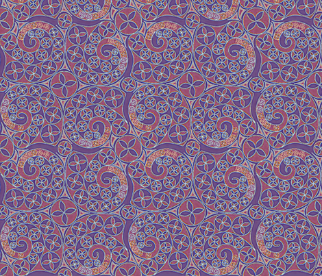 © 2011 Red, White and Bluets fabric by glimmericks on Spoonflower - custom fabric