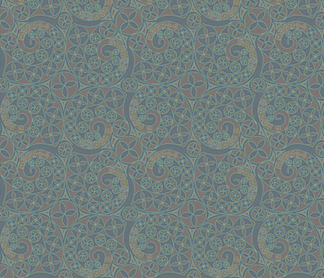 © 2011 Deepish Bluets fabric by glimmericks on Spoonflower - custom fabric
