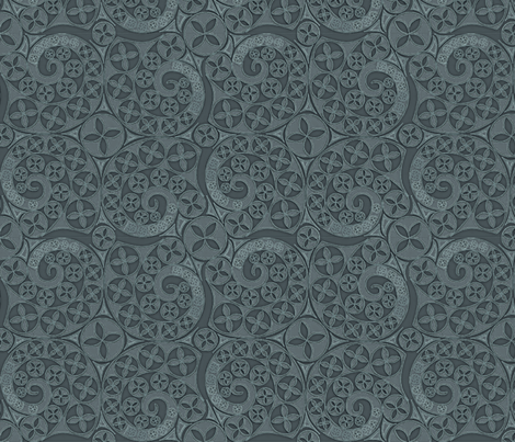 © 2011 Slate Bluets fabric by glimmericks on Spoonflower - custom fabric