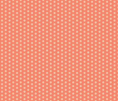 Coordinate Dots - Curliques Coral - Deep Coral  fabric by glimmericks on Spoonflower - custom fabric