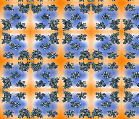 lupine_flowers_in_orange fabric by vinkeli on Spoonflower - custom fabric