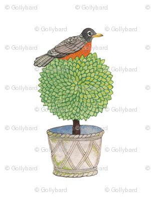 Robin and Boxwood - Topiary Collection