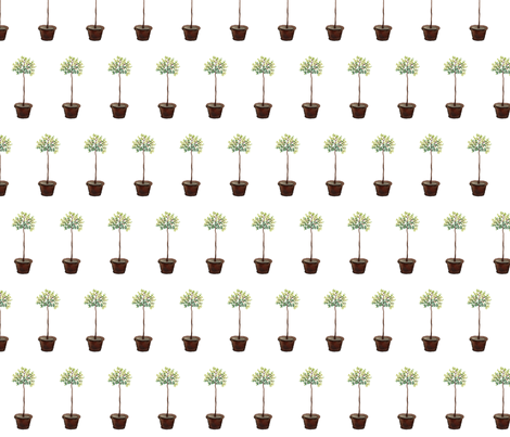 Myrtle Standard - Topiary Collection fabric by gollybard on Spoonflower - custom fabric
