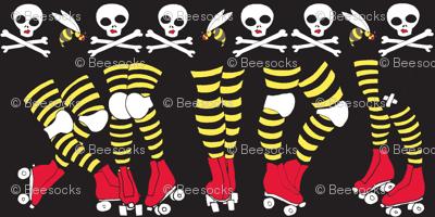Derby Legs Black the Killer Beesocks!