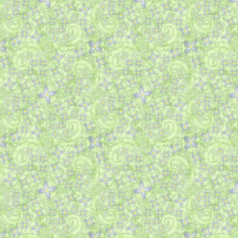 © 2011 My Bluet Heaven fabric by glimmericks on Spoonflower - custom fabric