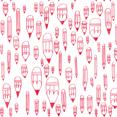 Pencils fabric by amywalters on Spoonflower - custom fabric