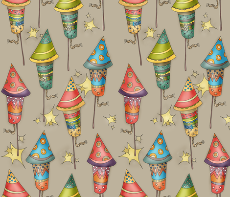 Brand New Fireworks fabric by catru on Spoonflower - custom fabric