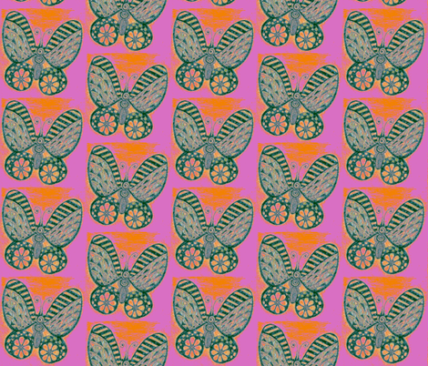 Butterflies fabric by joonmoon on Spoonflower - custom fabric