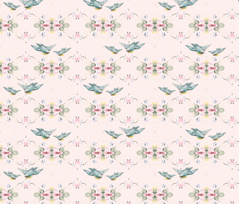 Wallpaper Birds fabric by peagreengirl on Spoonflower - custom fabric