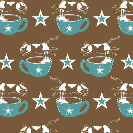 Cowboy Coffee With Creme fabric by vo_aka_virginiao on Spoonflower - custom fabric
