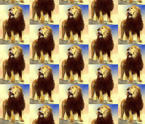 lions 2 fabric by vinkeli on Spoonflower - custom fabric