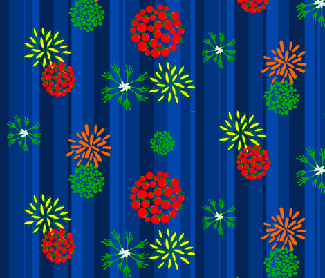 vegies_fireworks fabric by yonyon on Spoonflower - custom fabric