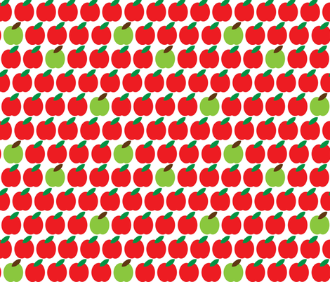 apples fabric by cutekotori on Spoonflower - custom fabric