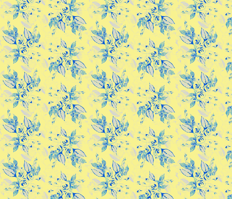 Roses blue background-ch fabric by joanmclemore on Spoonflower - custom fabric