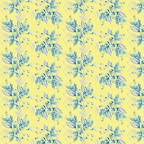 Roses blue background-ch
