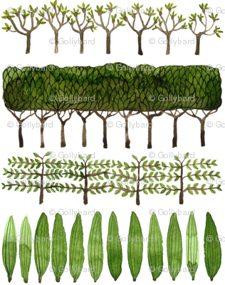 Allée of Trees - Topiary Collection