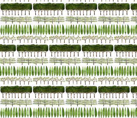 Allée of Trees - Topiary Collection fabric by gollybard on Spoonflower - custom fabric