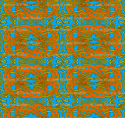 Red on Blue Celtic Knot Greyhounds ©2011 by Jane Walker