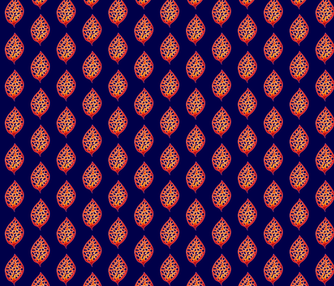 © 2011 Fire Leaf fabric by glimmericks on Spoonflower - custom fabric