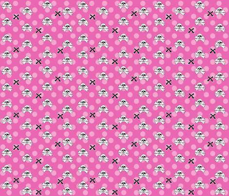 Skull_Bones_Girl fabric by writefullysew on Spoonflower - custom fabric