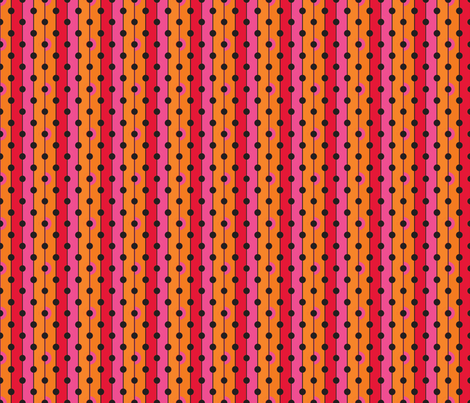 Peach Dots-ch fabric by joanmclemore on Spoonflower - custom fabric