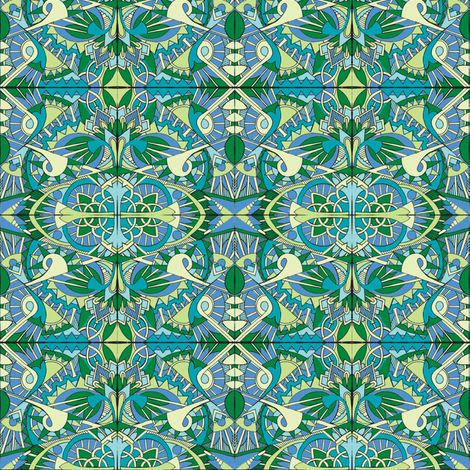 In Deco We Trust fabric by edsel2084 on Spoonflower - custom fabric