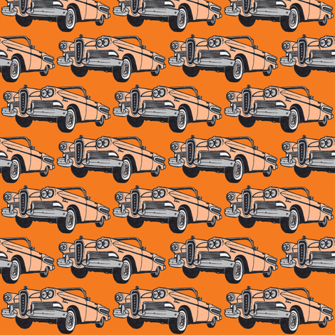 1958  Edsel Citation convertible in Pacer color fabric by edsel2084 on Spoonflower - custom fabric