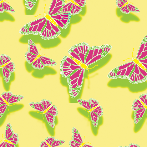Butterfly Motif 4 fabric by animotaxis on Spoonflower - custom fabric