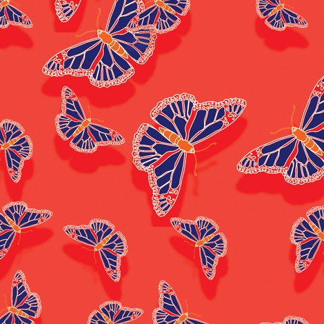 Butterfly Motif 5 fabric by animotaxis on Spoonflower - custom fabric